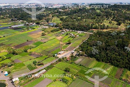 Foto aérea de hortas no cinturão verde de Guarulhos  - Guarulhos - São Paulo (SP) - Brasil