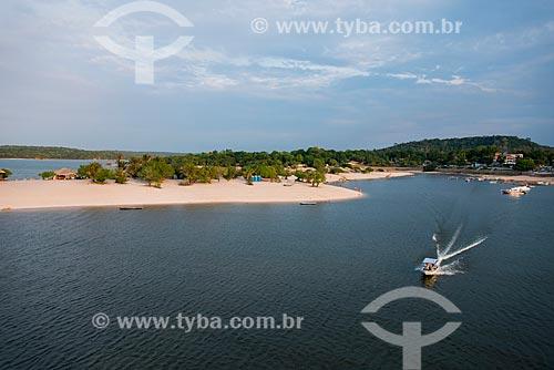 Foto aérea da Praia de Alter-do-Chão  - Santarém - Pará (PA) - Brasil