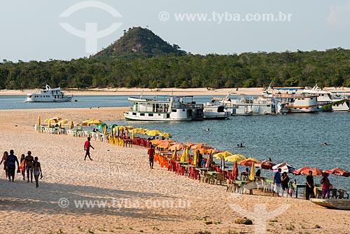 Orla da Praia de Alter-do-Chão  - Santarém - Pará (PA) - Brasil
