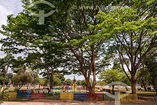 Parque na praça central da cidade de Belterra  - Belterra - Pará (PA) - Brasil