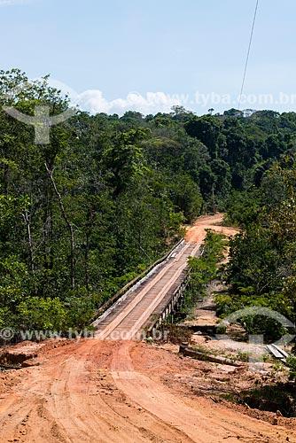 Ponte de madeira na Floresta Nacional do Tapajós  - Belterra - Pará (PA) - Brasil