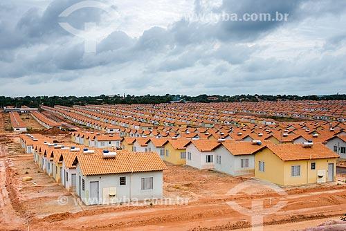 Conjunto habitacional do Programa Minha Casa Minha Vida na periferia da cidade de Santarém  - Santarém - Pará (PA) - Brasil