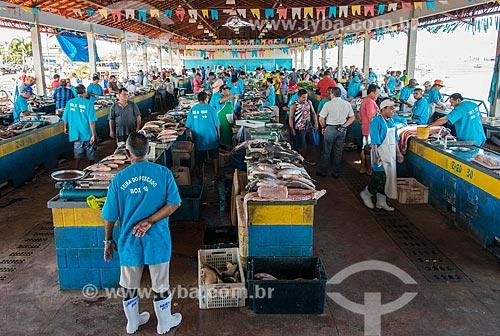 Peixes à venda no Mercado de Peixes da cidade de Santarém  - Santarém - Pará (PA) - Brasil