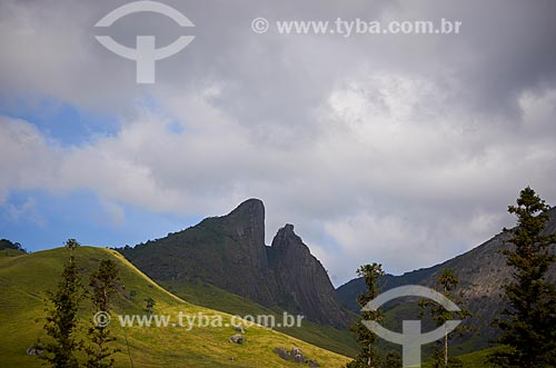 Vista do Morro Dois Bicos a partir do Parque Estadual dos Três Picos  - Teresopolis - Rio de Janeiro - Brazil