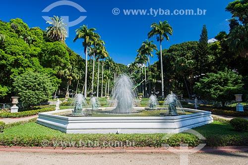 Fonte do jardim do Palácio Guanabara (1853) - sede do Governo do Estado  - Rio de Janeiro - Rio de Janeiro (RJ) - Brasil