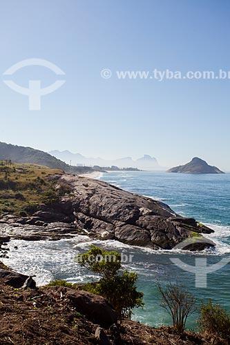 Praia da Macumba e Pedra do Pontal vistos do Mirante do Roncador  - Rio de Janeiro - Rio de Janeiro (RJ) - Brasil
