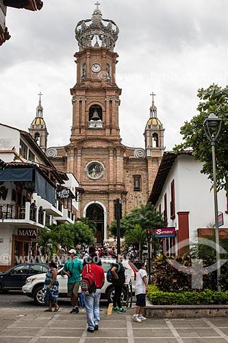 Fachada da Parroquia de Nuestra Señora de Guadalupe (Paróquia de Nossa Senhora de Guadalupe) - 1951  - Puerto Vallarta - Jalisco - México