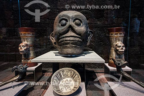 Cihuacoatl - deusa guerreira do panteão Asteca - em exibição no Museu Nacional de Antropologia  - Cidade do México - Distrito Federal - México