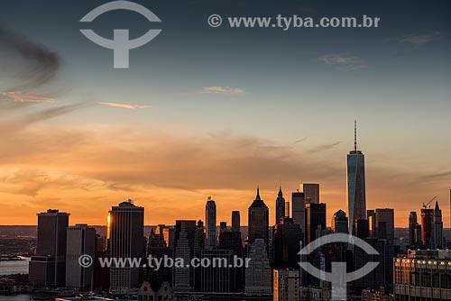 Pôr do sol em Manhattan  - Cidade de Nova Iorque - Nova Iorque - Estados Unidos