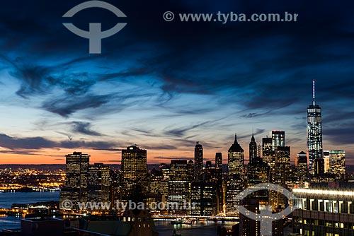 Anoitecer em Manhattan  - Cidade de Nova Iorque - Nova Iorque - Estados Unidos