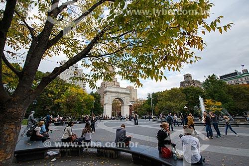 Pessoas no Washington Square Park  - Cidade de Nova Iorque - Nova Iorque - Estados Unidos