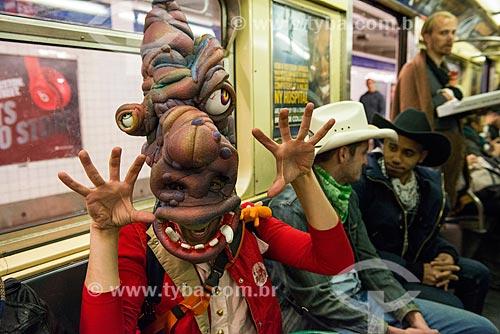 Pessoas fantasiadas para o Halloween  - Cidade de Nova Iorque - Nova Iorque - Estados Unidos