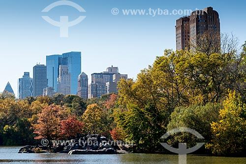 Lago no Central Park  - Cidade de Nova Iorque - Nova Iorque - Estados Unidos