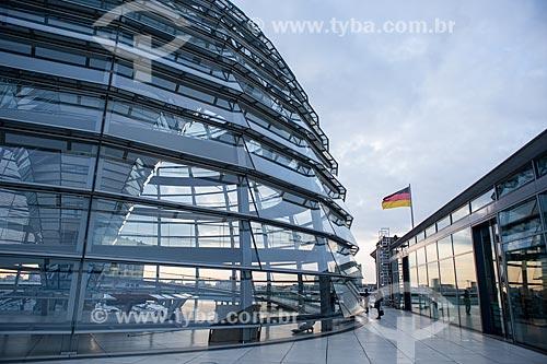Vista da clarabóia na cobertura do Palácio do Reichstag (1894) - sede do Parlamento Alemão  - Berlim - Berlim - Alemanha