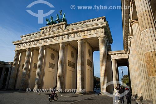 Portão de Brandemburgo (século XVIII)  - Berlim - Berlim - Alemanha