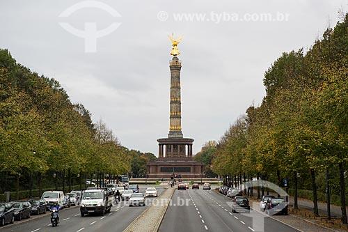 Siegessaule (1873) - também conhecido como Obelisco da Vitória ou Coluna da Vitória - no Parque Großer Tiergarten  - Berlim - Berlim - Alemanha