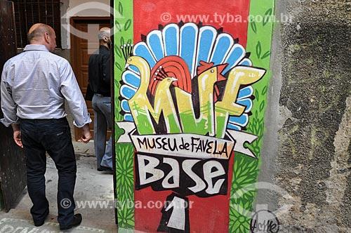 Base operacional 1 do Museu de Favela - ponto de visitação durante o favela tour  - Rio de Janeiro - Rio de Janeiro (RJ) - Brasil