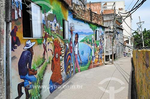 Base operacional 1 (Alvorada do galo) do Museu de Favela - ponto de visitação durante o favela tour  - Rio de Janeiro - Rio de Janeiro (RJ) - Brasil