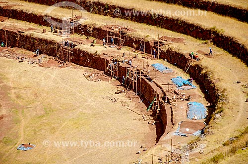 Ruínas no Parque Arqueológico de Písac  - Písac - Departamento de Cusco - Peru