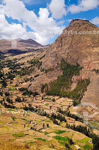 Vista da região do Vale Sagrado dos Incas de Písac  - Písac - Departamento de Cusco - Peru