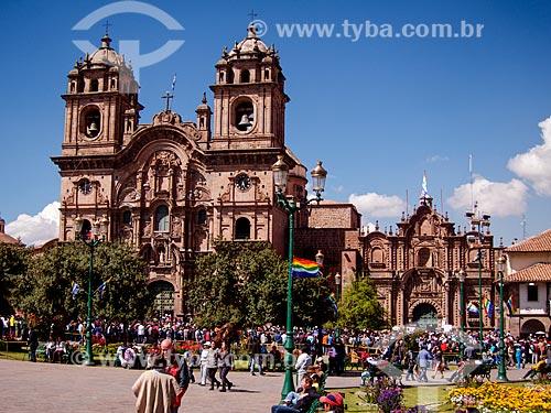 Fachada da Iglesia de la Compañía de Jesús (Igreja da Companhia de Jesus)  - Cusco - Departamento de Cusco - Peru