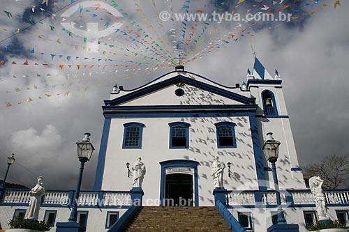 Fachada da Igreja Matriz de Nossa Senhora da Ajuda e Bom Sucesso  - Ilhabela - São Paulo (SP) - Brasil