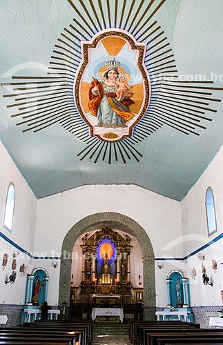 Interior da Igreja Matriz de Nossa Senhora da Ajuda e Bom Sucesso  - Ilhabela - São Paulo (SP) - Brasil