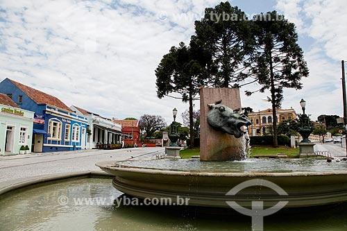 Fonte da Memória (1995) na Praça Garibaldi  - Curitiba - Paraná (PR) - Brasil