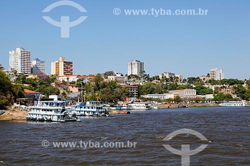 Vista do Porto Geral de Corumbá a partir do Rio Paraguai  - Corumbá - Mato Grosso do Sul (MS) - Brasil