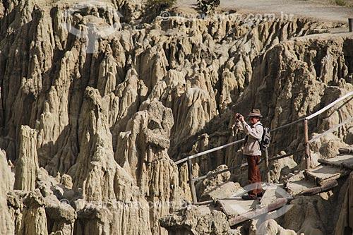 Formação geológica no Valle de la Luna (Vale da Lua)  - La Paz - Departamento de La Paz - Bolívia
