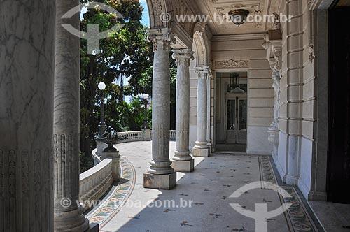 Palácio Laranjeiras (1913) - residência oficial do governador do estado do Rio de Janeiro  - Rio de Janeiro - Rio de Janeiro (RJ) - Brasil