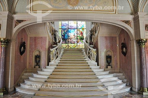 Vitral no interior do Palácio Laranjeiras (1913) - residência oficial do governador do estado do Rio de Janeiro  - Rio de Janeiro - Rio de Janeiro (RJ) - Brasil