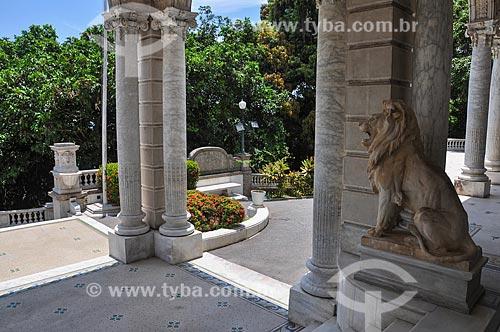 Entrada do Palácio Laranjeiras (1913) - residência oficial do governador do estado do Rio de Janeiro  - Rio de Janeiro - Rio de Janeiro (RJ) - Brasil