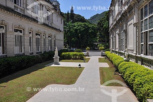 Fachada posterior do Palácio Laranjeiras (1913) - residência oficial do governador do estado do Rio de Janeiro  - Rio de Janeiro - Rio de Janeiro (RJ) - Brasil