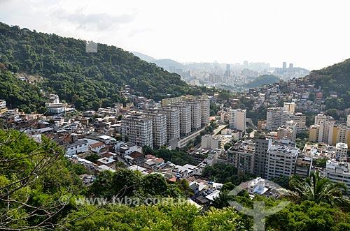 Vista dos prédios no bairro Peixoto a partir do Morro dos Cabritos  - Rio de Janeiro - Rio de Janeiro (RJ) - Brasil