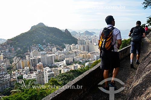 Vista do Parque Estadual da Chacrinha e dos prédios no Peixoto e em Copacabana a partir da trilha no Morro dos Cabritos  - Rio de Janeiro - Rio de Janeiro (RJ) - Brasil