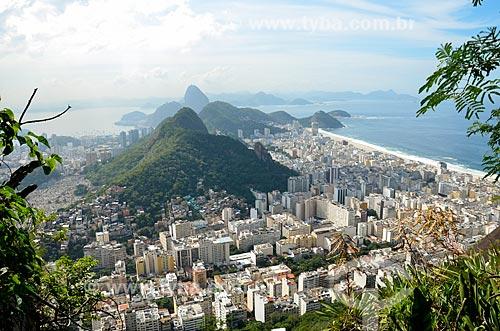 Vista do Parque Estadual da Chacrinha e dos prédios no Peixoto e em Copacabana a partir do Morro dos Cabritos  - Rio de Janeiro - Rio de Janeiro (RJ) - Brasil