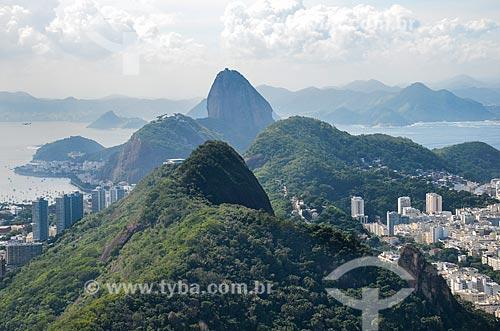 Vista do Parque Estadual da Chacrinha a partir do Morro dos Cabritos com o Pão de Açúcar ao fundo  - Rio de Janeiro - Rio de Janeiro (RJ) - Brasil