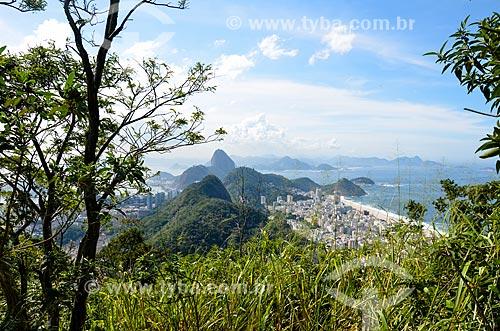 Vista do Parque Estadual da Chacrinha e dos prédios em Copacabana a partir do Morro dos Cabritos  - Rio de Janeiro - Rio de Janeiro (RJ) - Brasil