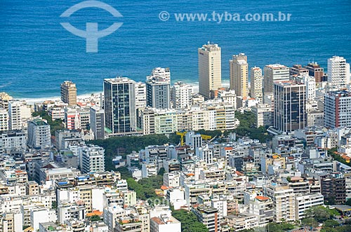 Vista da Praça Nossa Senhora da Paz e dos prédios de Ipanema a partir do Morro dos Cabritos  - Rio de Janeiro - Rio de Janeiro (RJ) - Brasil