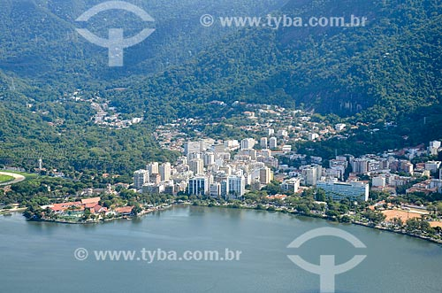 Vista dos prédios na Lagoa a partir do Morro dos Cabritos  - Rio de Janeiro - Rio de Janeiro (RJ) - Brasil