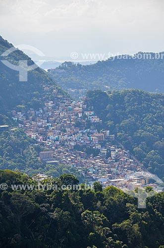 Vista da Favela Santa Marta a partir do Morro dos Cabritos  - Rio de Janeiro - Rio de Janeiro (RJ) - Brasil