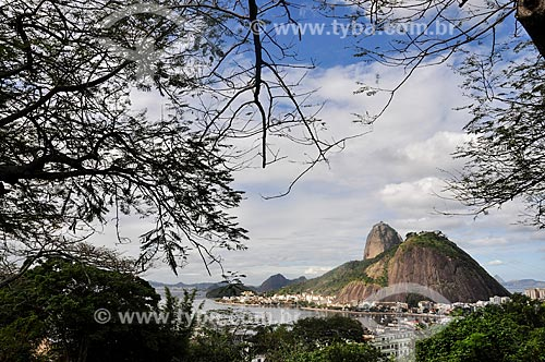 Vista do Pão de Açúcar a partir do Mirante do Pasmado  - Rio de Janeiro - Rio de Janeiro (RJ) - Brasil