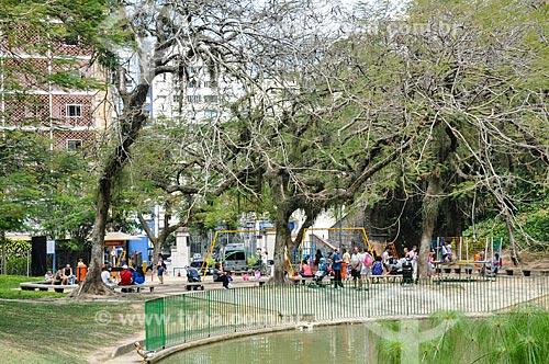 Pessoas no playground do Parque Guile  - Rio de Janeiro - Rio de Janeiro (RJ) - Brasil