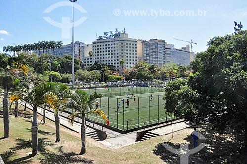 Campo de futebol no Aterro do Flamengo  - Rio de Janeiro - Rio de Janeiro (RJ) - Brasil
