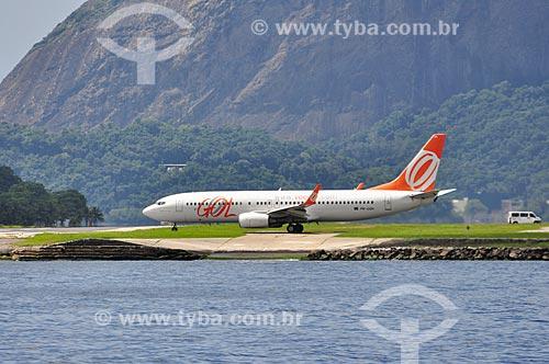 Avião da GOL - Linhas Aéreas Inteligentes - se preparando para pousar no Aeroporto Santos Dumont  - Rio de Janeiro - Rio de Janeiro (RJ) - Brasil