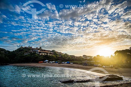 Pôr do sol na orla da Praia da Ferradurinha  - Armação dos Búzios - Rio de Janeiro (RJ) - Brasil
