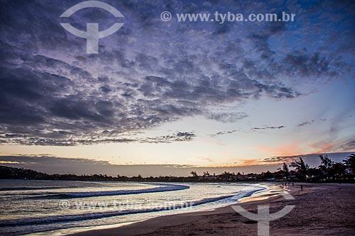 Pôr do sol na orla da Praia de Geribá  - Armação dos Búzios - Rio de Janeiro (RJ) - Brasil