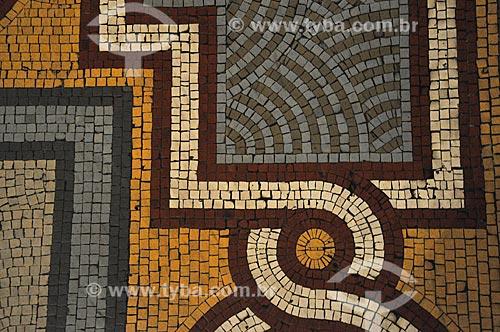 Detalhe do piso do Museu Nacional de Belas Artes (1938)  - Rio de Janeiro - Rio de Janeiro (RJ) - Brasil