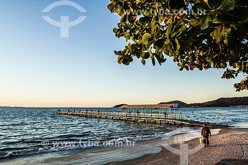 Píer na orla da Praia de Canasvieiras  - Florianópolis - Santa Catarina (SC) - Brasil